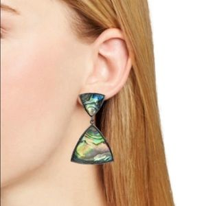 NEW GUNMETAL MAURY ABALONE EARRINGS